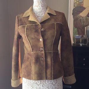 Karen Kane Petite faux shearling, suede jacket
